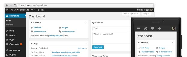 Version 3.8 of WordPress