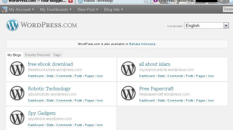 my blog Cara MenDelete Blog di Wordpress