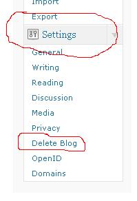 setting delete Cara MenDelete Blog di Wordpress